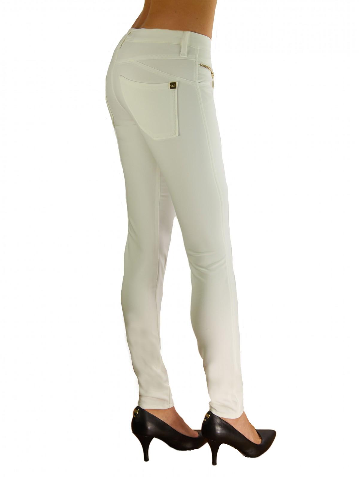 Schmale Stretch Hose in Cream