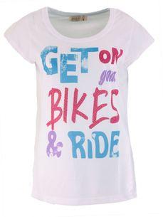 Bikes Statement T-Shirt in Weiss