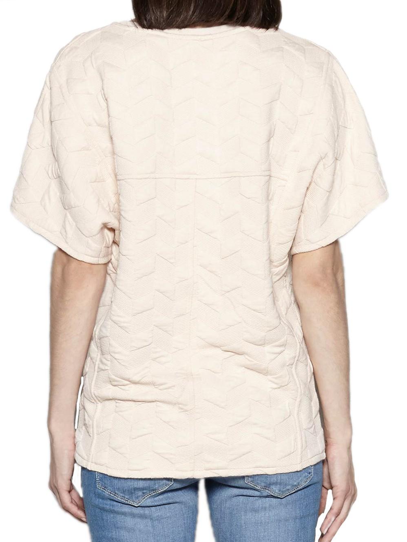 Gemustertes T-Shirt in Light Pink