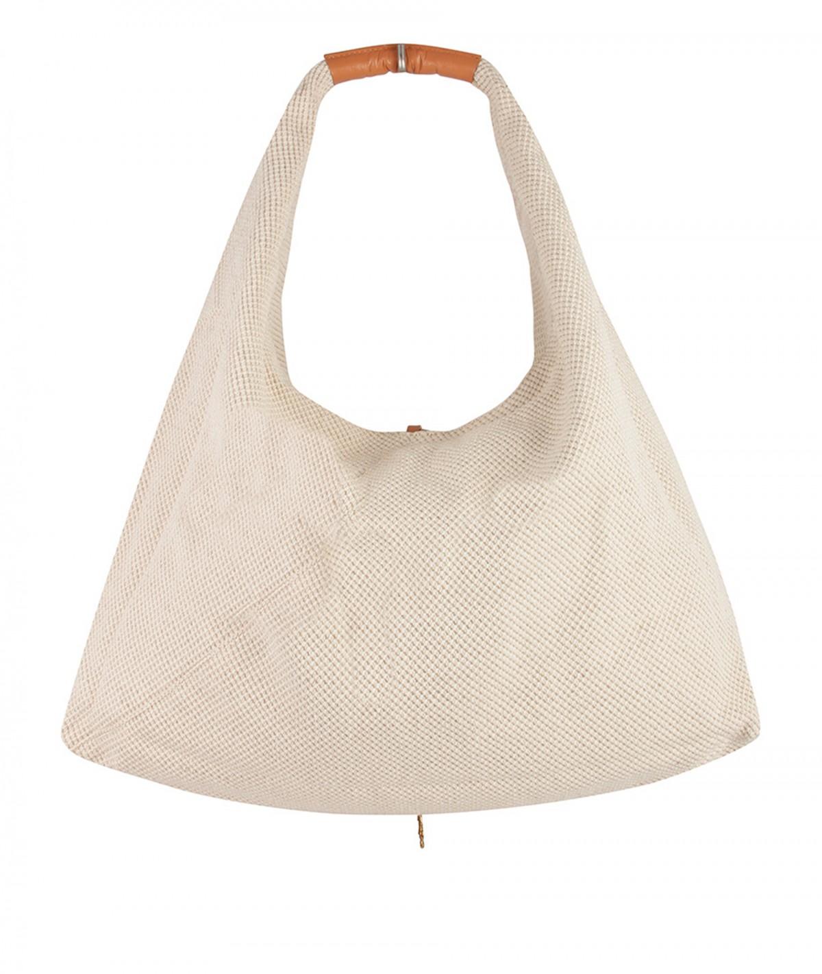 Tote Bag aus Baumwolle und Leder