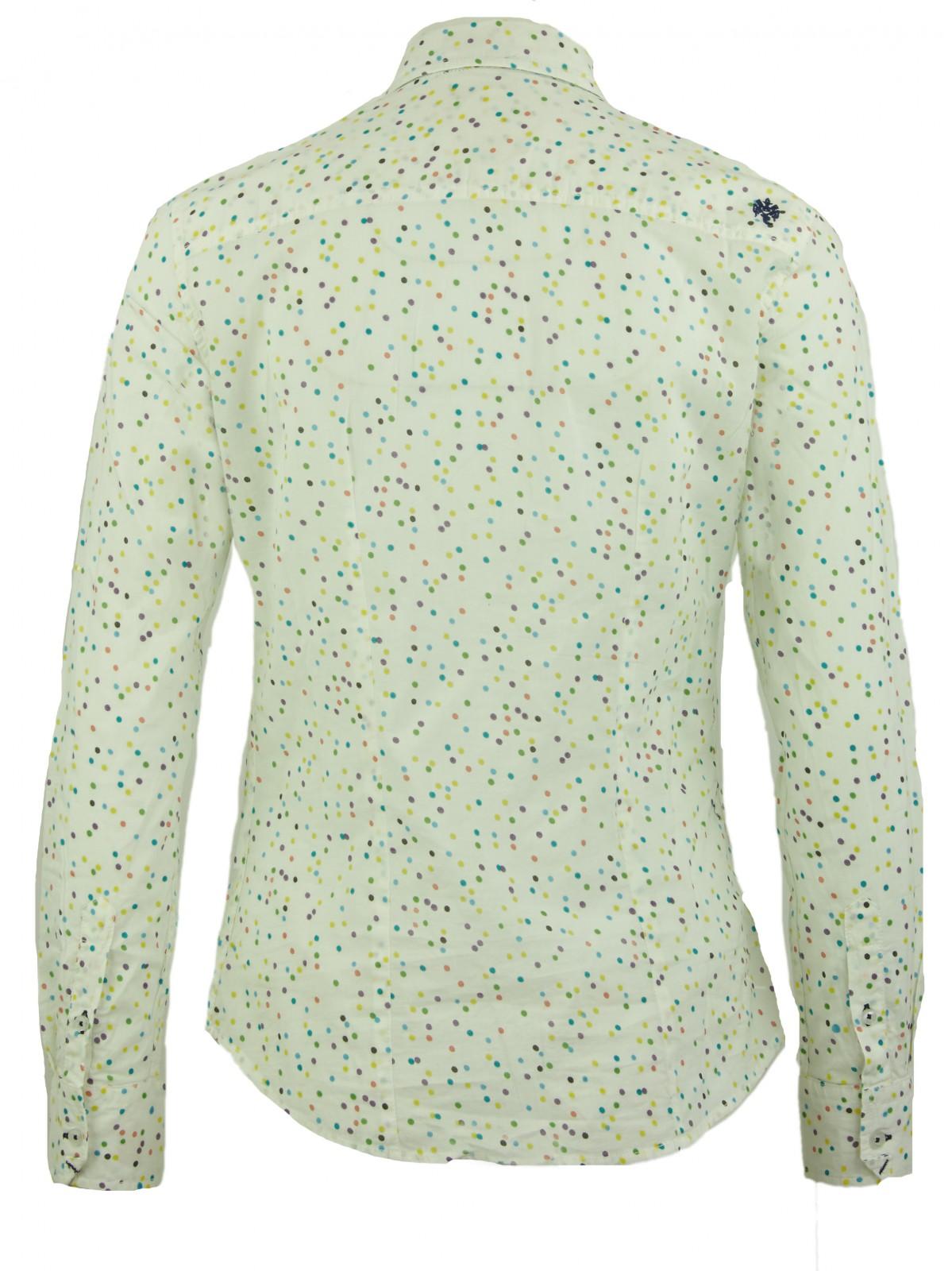 Gepunktete Bluse aus Baumwolle