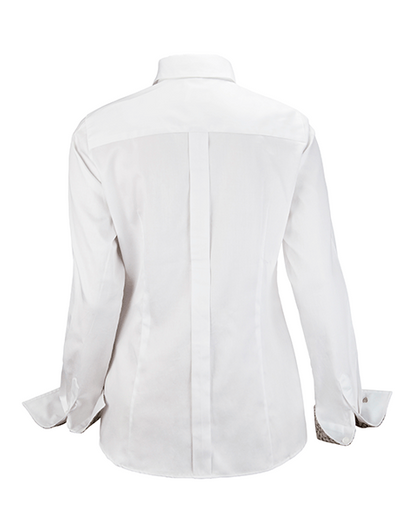 Bluse Uppsala Leo in Weiss
