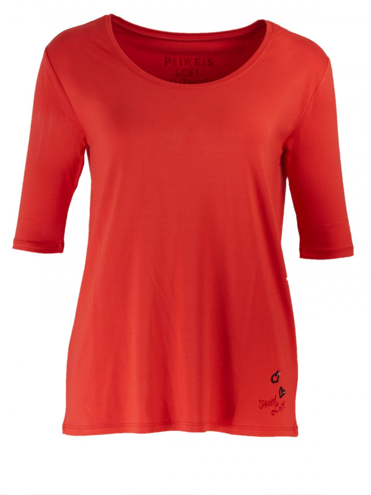 Basic Halbarm T-Shirt in Flame