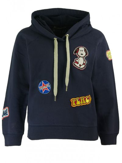 Snoopy Patches Hoody in True Navy