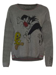 Sylvester & Tweety Boxy Pullover in Vintage Look