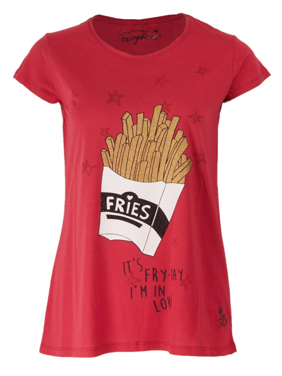 Fries Print T-Shirt