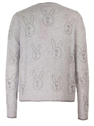 Allover Crystal Rabbit Pullover
