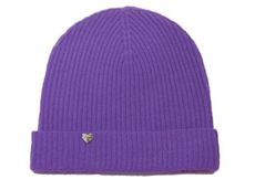 Cashmere Mix Beanie in Amethyst