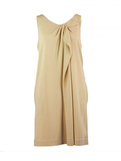 Stretch Jersey Kleid mit Dekofalte