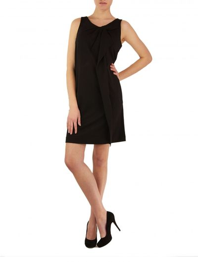 Stretch-Jersey Kleid in Schwarz