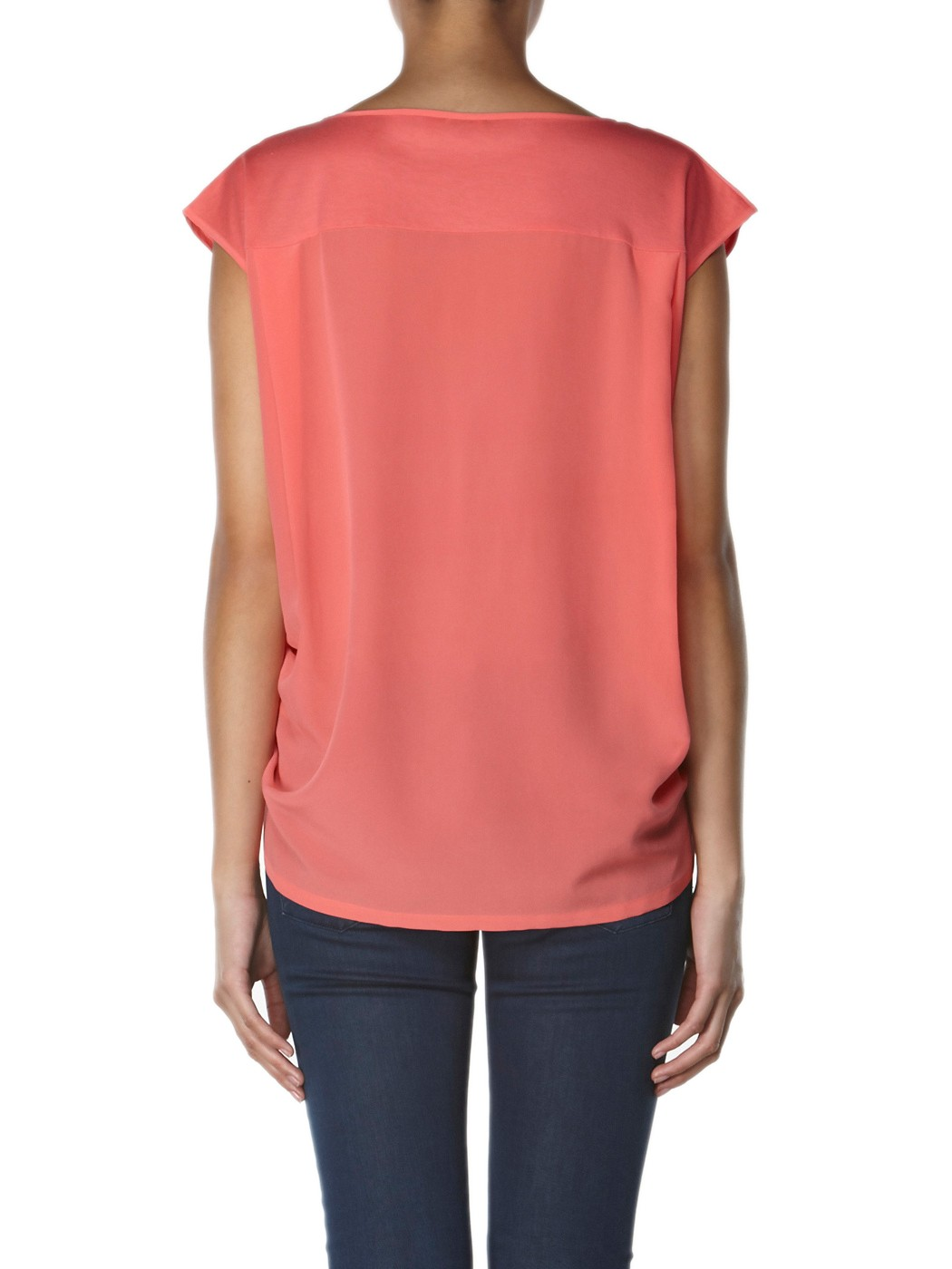 Asymmetrisches T-Shirt aus Seiden-Mix