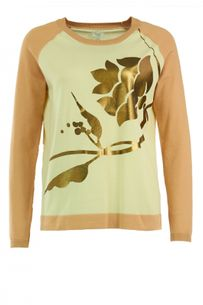 Feinstrick Pullover in Antique Gold