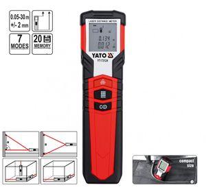 Laser Entfernungsmesser Abstandsmesser Distanzmesser Messbereich 0,05 - 30 m Genauigkeit +/- 2 mm – Bild 1