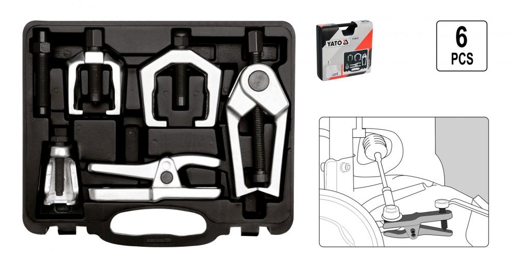 KFZ Spezial Werkzeug Set Federspanner Kugelgelenk 4 tlg Spurkopf Ausdrücker