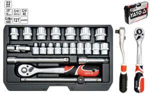 """Steckschlüsselsatz Knarrenkasten Werkzeugkoffer TYP2 3/8"""" XS 22 TLG."""