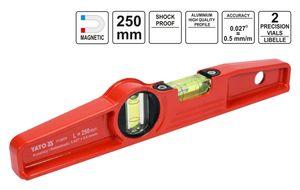 Profi Aludruckguss Wasserwaage Trapez mit Magneten 250 mm 2-Libellen