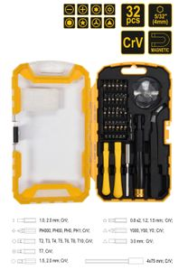 32 Tlg. Universal Smartphone Handy Tablet Reparatur-Werkzeug Set