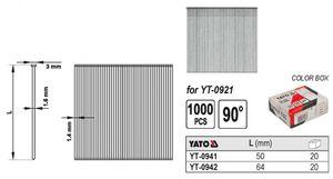 Nägel Streifennägel 90° für Druckluftnagler 64 x 1,8mm – Bild 1