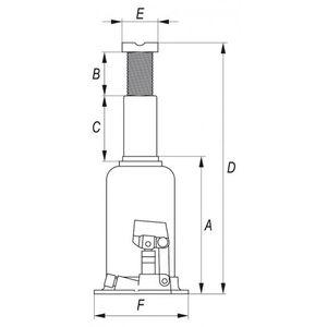 Hydraulik Stempelwagenheber Flaschenwagenheber 10 T