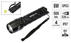 500 Lumen Security Outdoor LED Taschenlampe 6W Cree XP-G3 Camping Tauchen mit Glasbrecher-Kopf – Bild 1