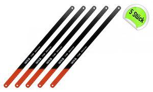 5 Stück Metallsägeblatt für Bügelsäge 300 mm lang 12 mm breit Handsäge Sägebogen
