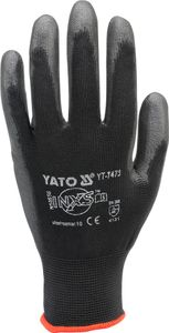 Mechaniker Handschuhe Nylon Arbeitshandschuhe schwarz Gr 10
