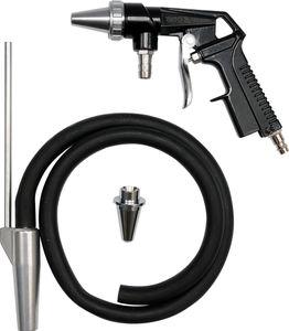 Druckluft Sandstrahlpistole Sandstrahlgerät Sandstrahler mit Zubehör – Bild 2