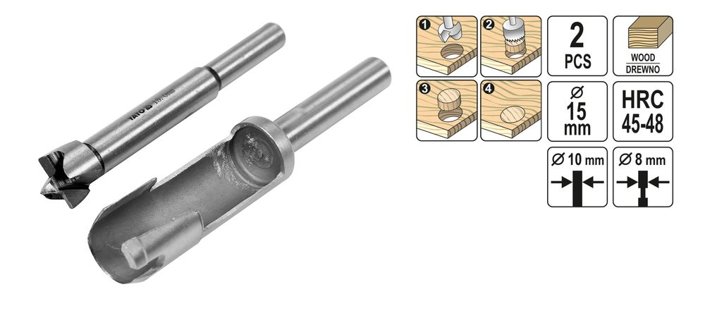 Auffüllsatz 15-35mm 2 Tlg Forstnerbohrer Scheibenschneider Oberfräser Ausbohr u