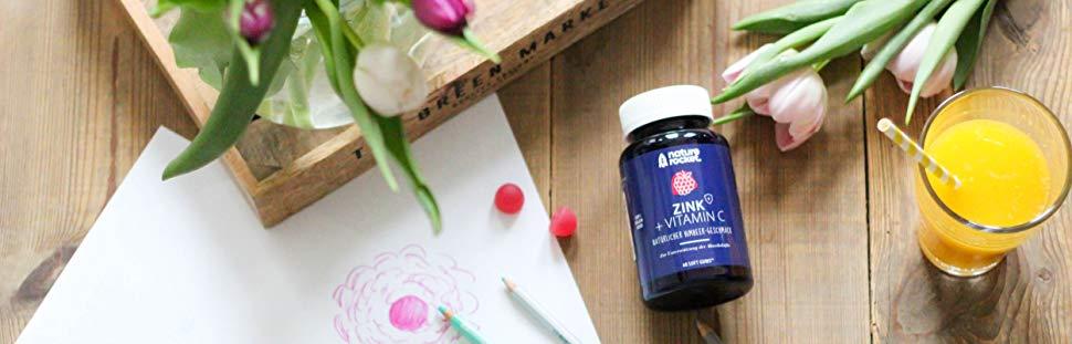 nature rocket Zink + Vitamin C Softgums - Abwehrkräfte stärken