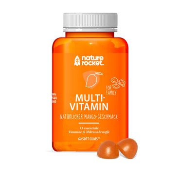 Nature Rocket Fruchtgummi 11 Multivitamine Mango Softgum