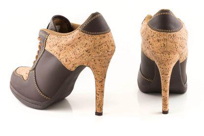 MISSY ROCKZ WOOD FEELING bequeme High Heels im Sneakerlook braun/ Kork 10,5 cm Absatz Herbstschuhe – Bild 4
