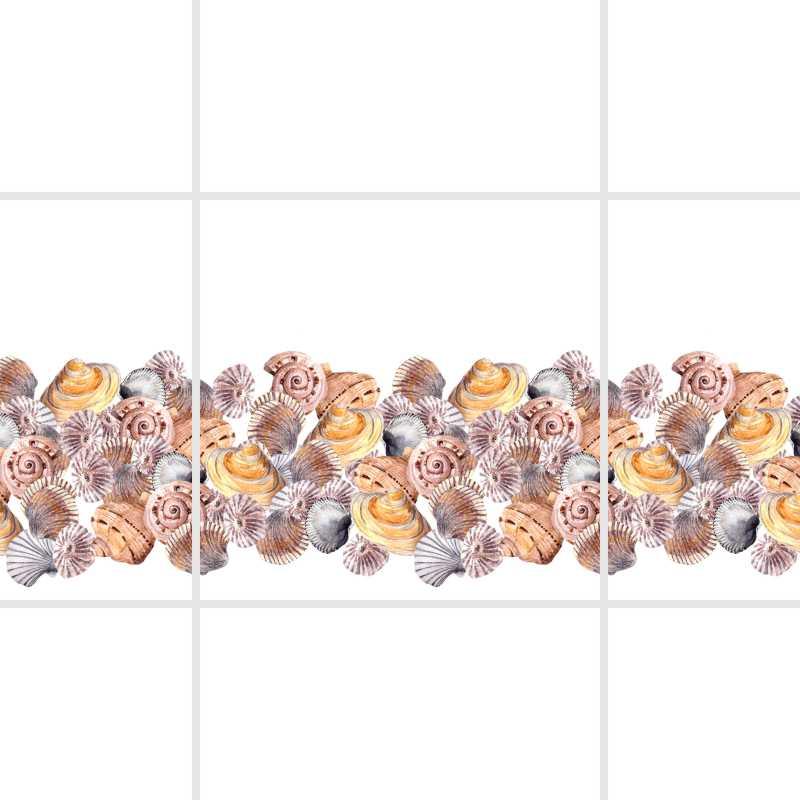 Fliesenaufkleber Motiv Conchas 10x10 cm – Bild 4