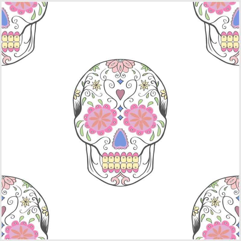 10 Fliesenaufkleber Motiv Sugar Skull 15x15 cm mit Kunststoffrakel – Bild 6