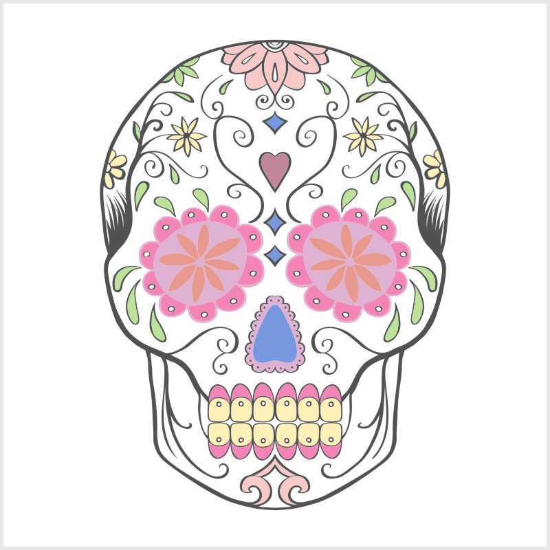 5 Fliesenaufkleber Motiv Sugar Skull 20x20 cm mit Kunststoffrakel – Bild 5