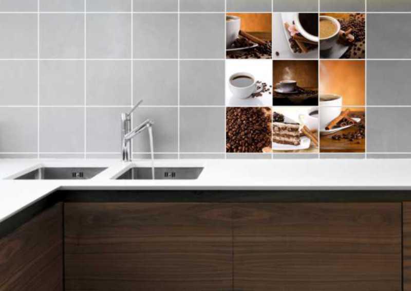 Fliesenbild Coffee Collage – Bild 2