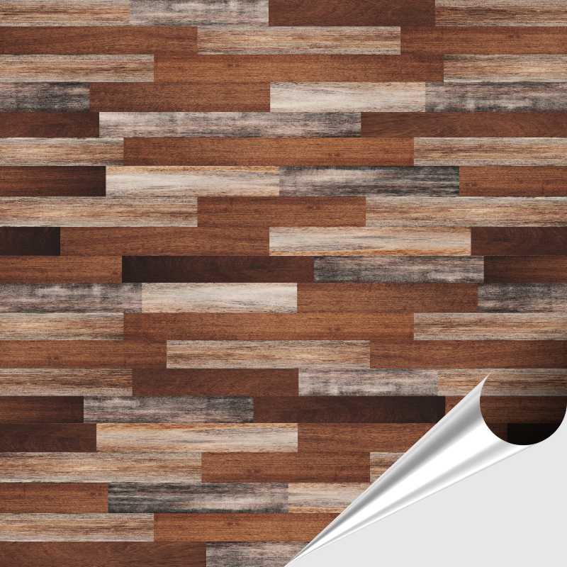 Fliesenaufkleber Dekor Wood 15x15 cm – Bild 1