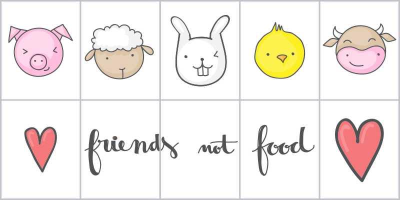 Fliesenbild friends not food – Bild 1