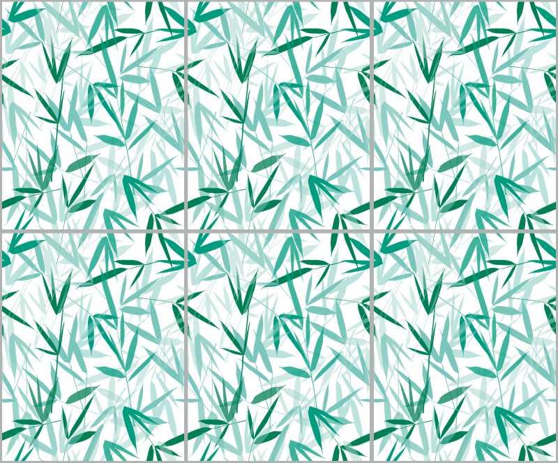Fliesenaufkleber Bamboori Mint 20x25 cm – Bild 3