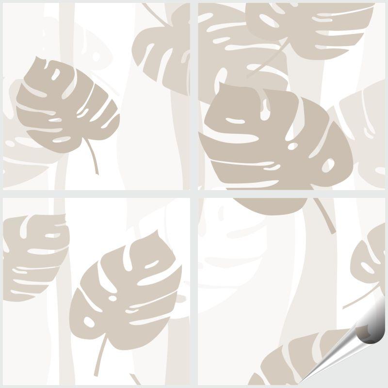 Fliesenaufkleber Tropical Beige 4`er Set 10x10 cm – Bild 1
