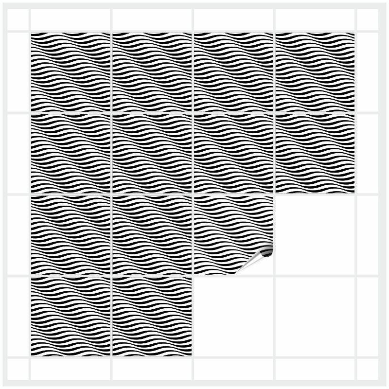 Fliesenbild Zebrawellen – Bild 1