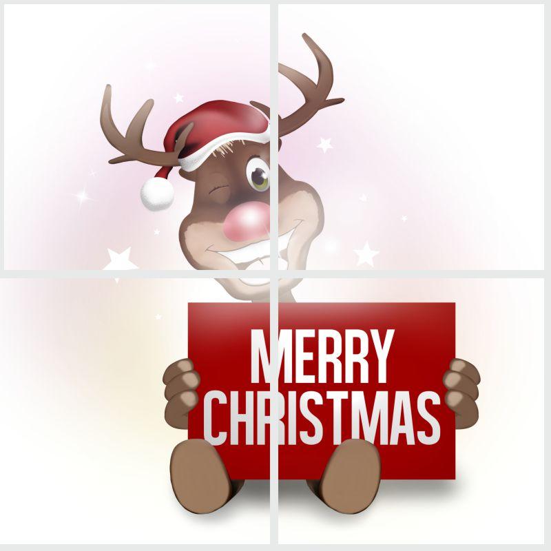 Fliesenaufkleber MERRY CHRISTMAS 4`er Set 10x10 cm – Bild 3