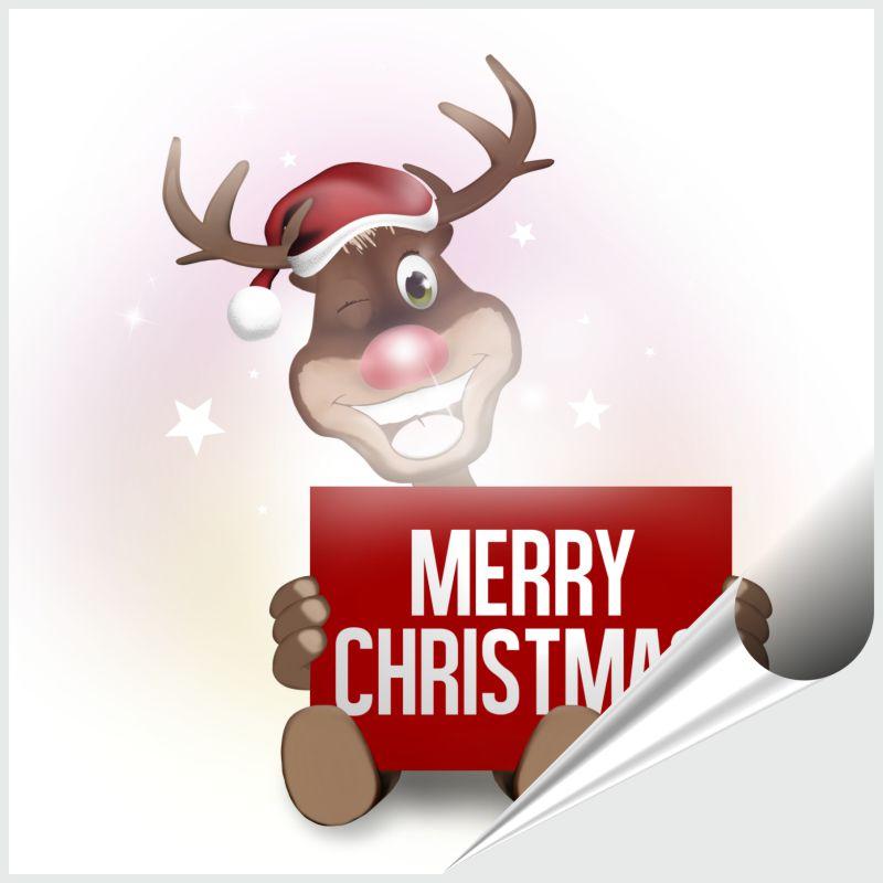 Fliesenaufkleber MERRY CHRISTMAS 15x15 cm – Bild 1