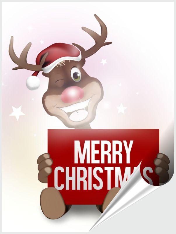 Fliesenaufkleber MERRY CHRISTMAS 15x20 cm – Bild 1