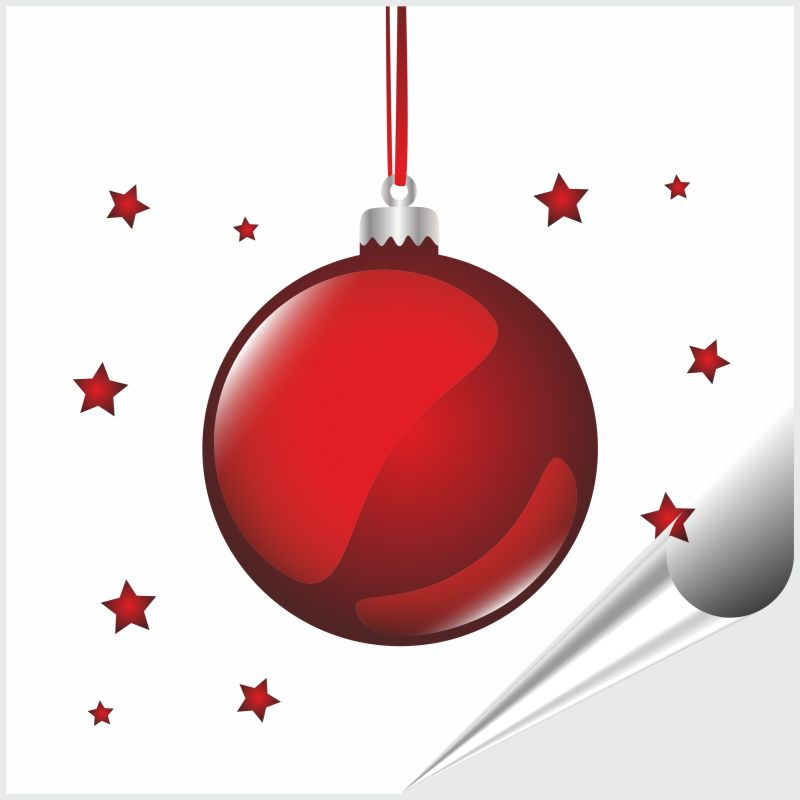 Fliesenaufkleber rote Weihnachtskugel 20x20 cm – Bild 1