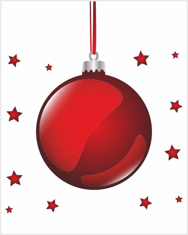 Fliesenaufkleber rote Weihnachtskugel 20x25 cm – Bild 3