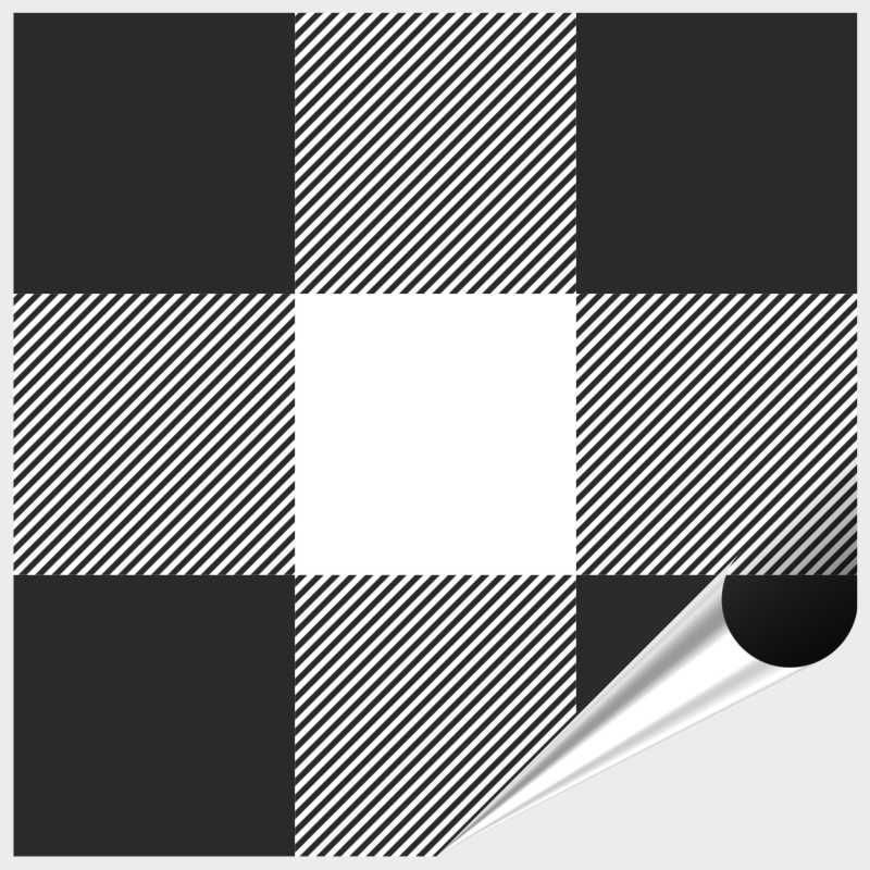 Fliesenaufkleber Mosaik Crossline Black 10x10 Cm