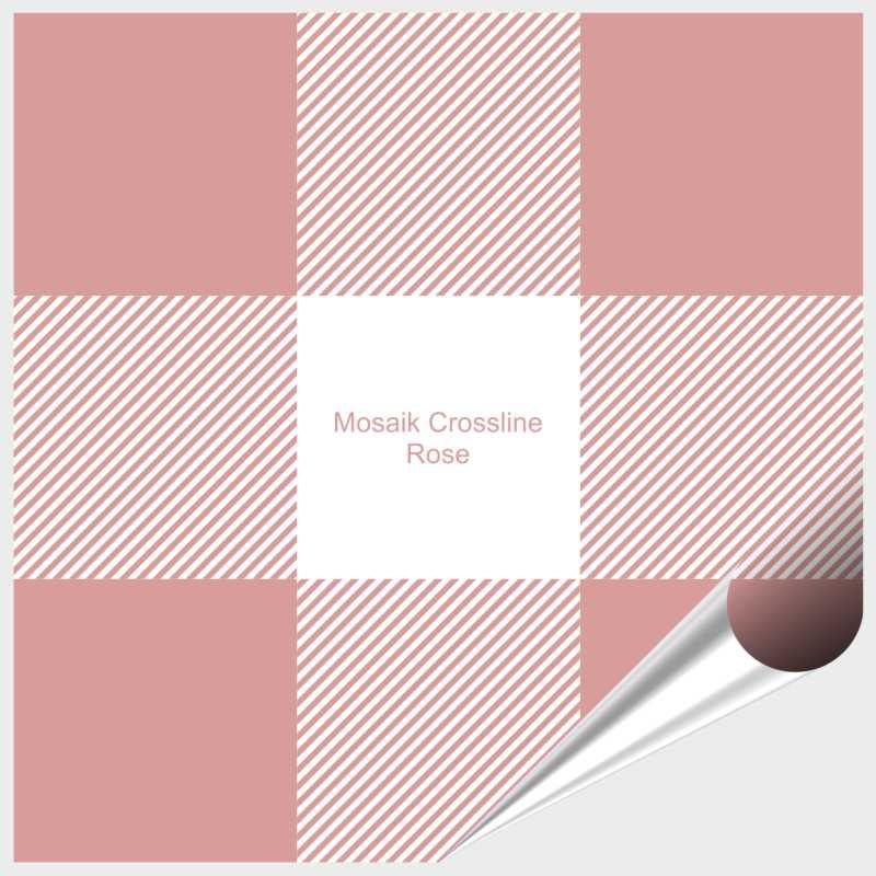 Probemuster Mosaik Crossline Rose