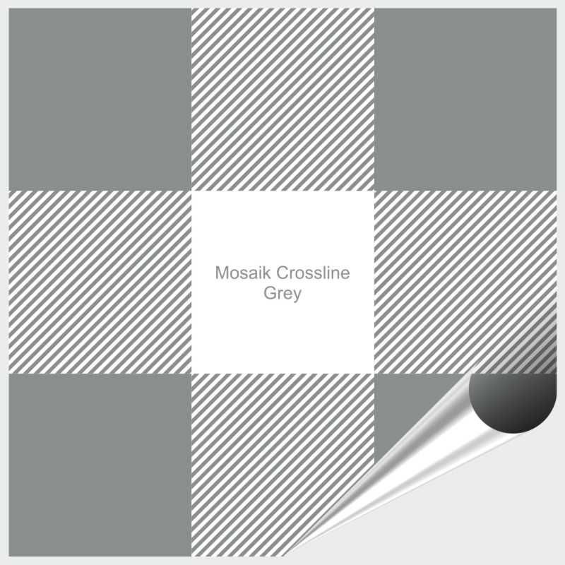 Probemuster Mosaik Crossline Grey