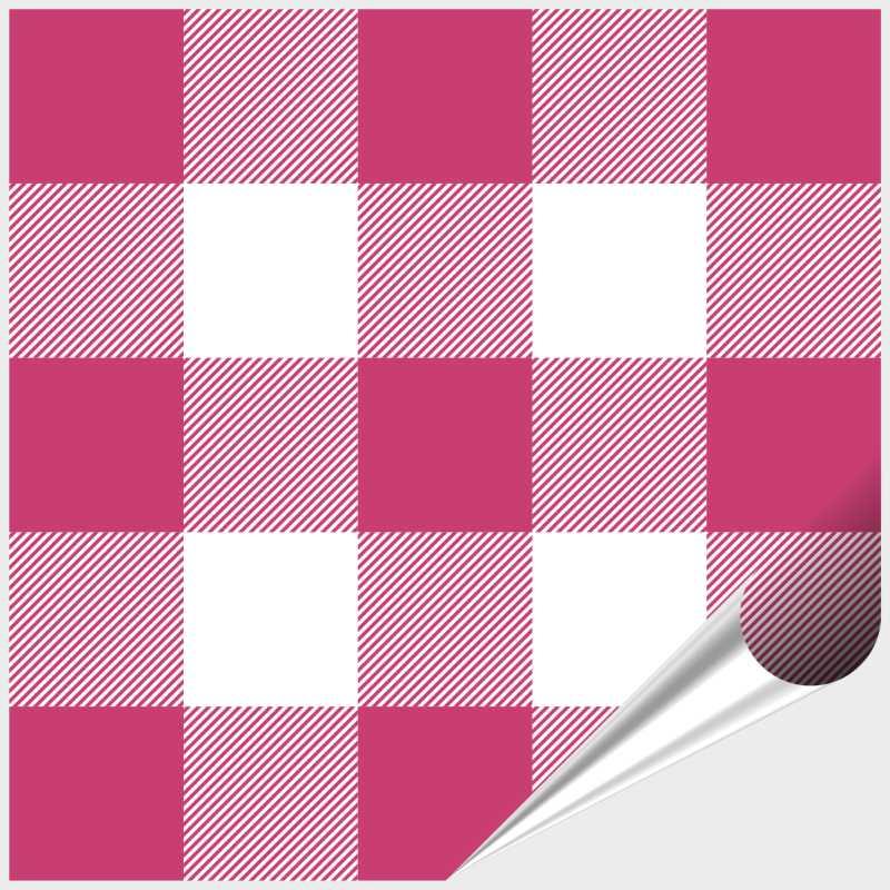 Fliesenaufkleber Mosaik Crossline Pink 15x15 cm – Bild 1
