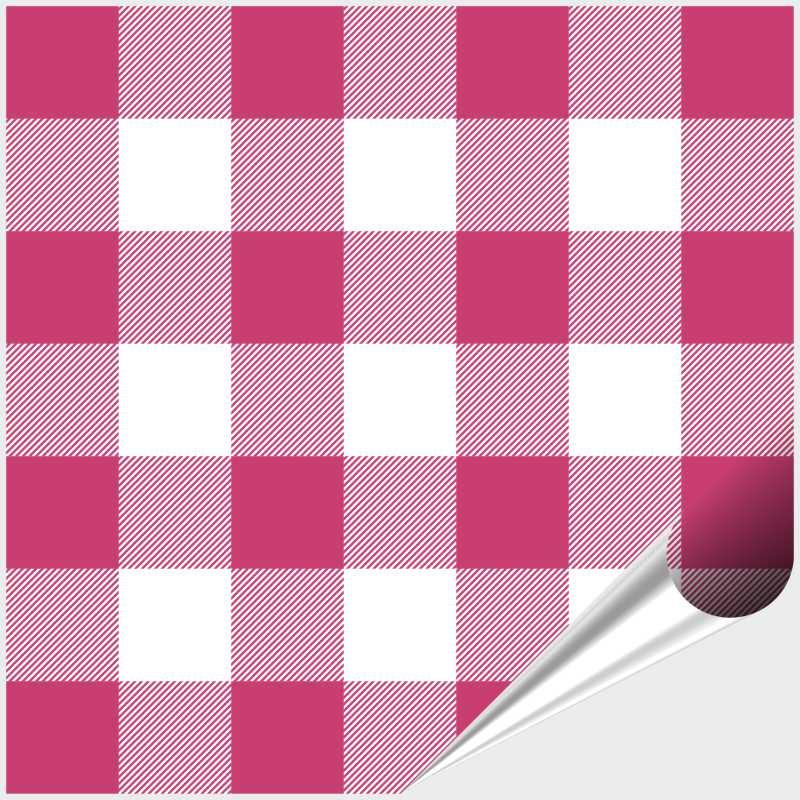 Fliesenaufkleber Mosaik Crossline Pink 20x20 cm – Bild 1